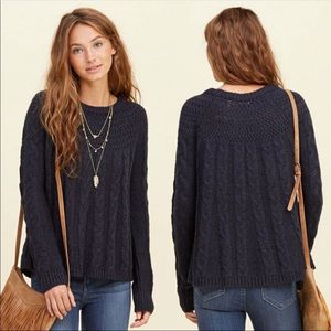 Hollister cable swing sweater